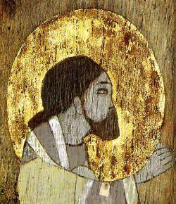 MARGHERITA PAVESI MAZZONI, Gesù Cristo - tecnica mista su tavola