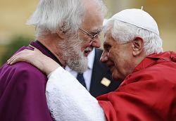 l'Arcivescovo di Canterbury, Rowan Williams e Papa Benedetto XVI