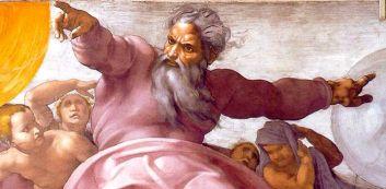 Michelangelo Buonarroti, Dio separa la luce dalle tenebre, 1508 - 1512, volta della cappella Sistina, Città del vaticano