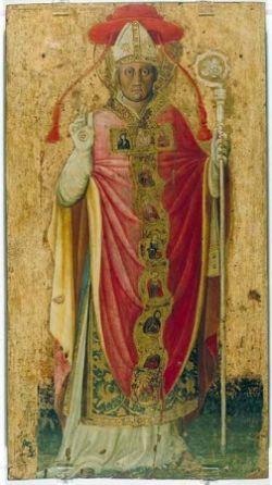 PIER DAMIANI, dipinto su tavola del XV sec., Ravenna.