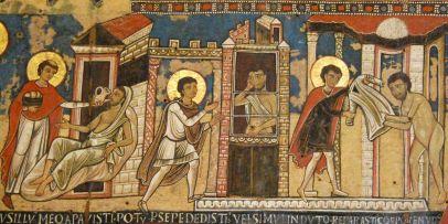 Nicolò di Giovanni, Giudizio universale, seconda metà del XII secolo (particolare), tempera su tavola, Musei Vaticani