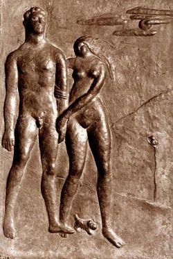 bassorilievo in bronzo cm 41,5 x 28,5 - raccolta Manzù Ardea, Roma