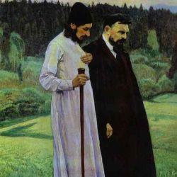 Pavel Florenskij, scienziato e presbitero ortodosso (1882-1937)  con Bulgakov