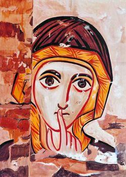 les icônes de Bose, visage de moniale - style copte
