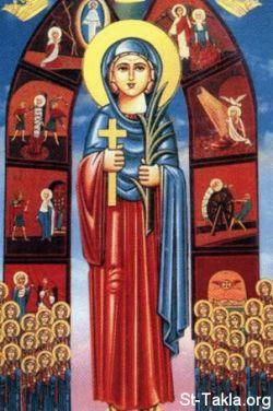 Santa DAMIANA, icona copta.