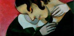 Marc Chagall, Gli amanti in rosa (particolare)