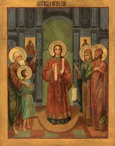 Romano il melode, icona russa del XIX sec.