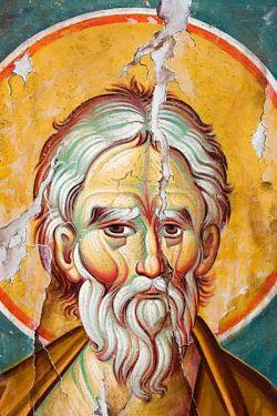 ANDREA APOSTOLO, dipinto su tela copia di affresco bizantino