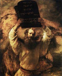 Rembrandt, Mosè con le tavole della legge, 1659, Staatliche Museen, Berlino