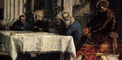 Cristo lava i piedi ai suoi discepoli, Tintoretto (1547)