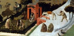 Fra Angelico, Scene delle vite dei primi padri, 1420–1430 circa, Museo delle belle arti di Budapest.