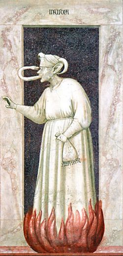 GIOTTO, Invidia -  Cappella degli Scrovegni - Padova