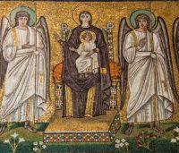 Ravenna Sant'Apollinare Nuovo, mosaico teodoticiano, inizio 6° sec.