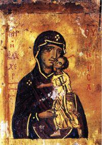 Santa Caterina del Sinai, Blachernitissa particolare di un'icona del 13° sec