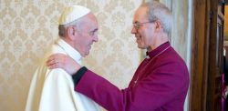L' arcivescovo di Canterbury Welby e papa Francesco il 6 ottobre in Vaticano
