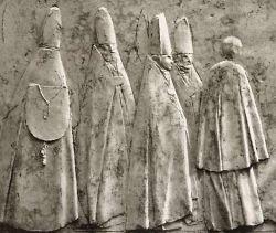 Apertura del Concilio Vaticano II - particolare - cm 66 x 180 - 1963