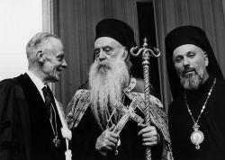 Il pastore Visser 't Hooft, il patriarca Athenagoras e il metropolita Emilianos de Silyvria