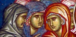 Volti di donne, affresco del monastero di Decani in Kosovo.