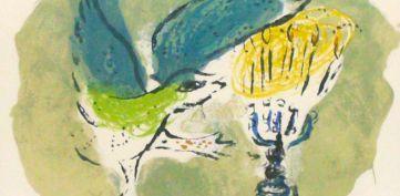 Marc Chagall La colomba e la Menorah, litografia