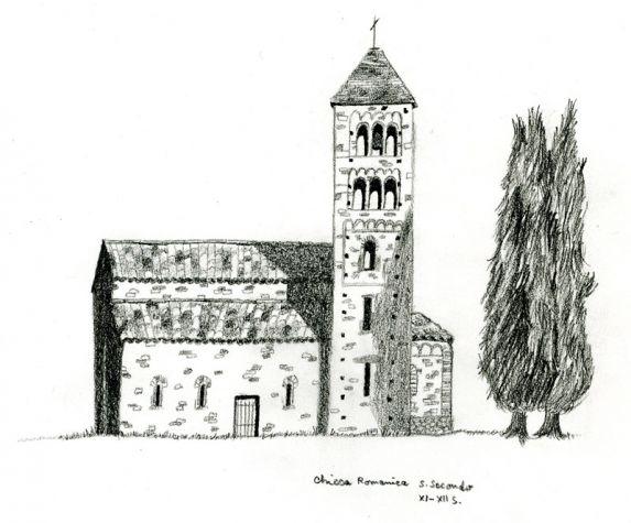 La chiesa san secondo - disegno di Laetitia Warnery