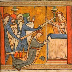 Illustrazione da un salterio inglese, c. 1220 -  British Library