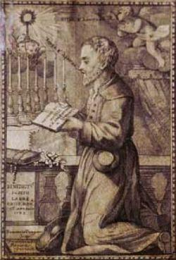 BENEDETTO G. LABRE, stampa del XVIII sec.