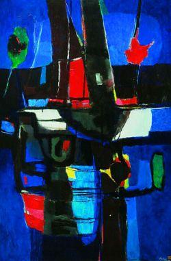 Olio su tela ,cm 95 x 145 - 1964
