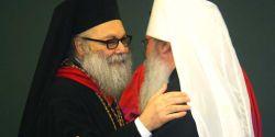 Il Patriarca Yuhanna X e il Metropolita Tikhon primate della Orthodox Church of America, St Vladimir-27 luglio 2015