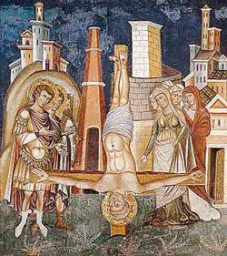 Affresco del XIII secolo, Sancta Sanctorum presso il Laterano