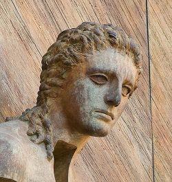 Particolare del volto, Basilica di santa Maria degli Angeli e dei Martiri, Roma