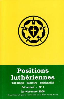 Positions luthériennes: 16, rue Chauchat - 75009 Paris
