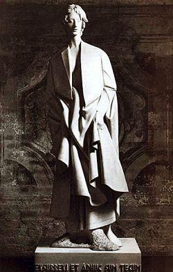 1975, marmo bianco di Carrara, Abbazia di Chiaravalle (MI)