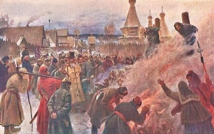 Il rogo dell'arciprete Avvakum, Myasoyedov, 1897