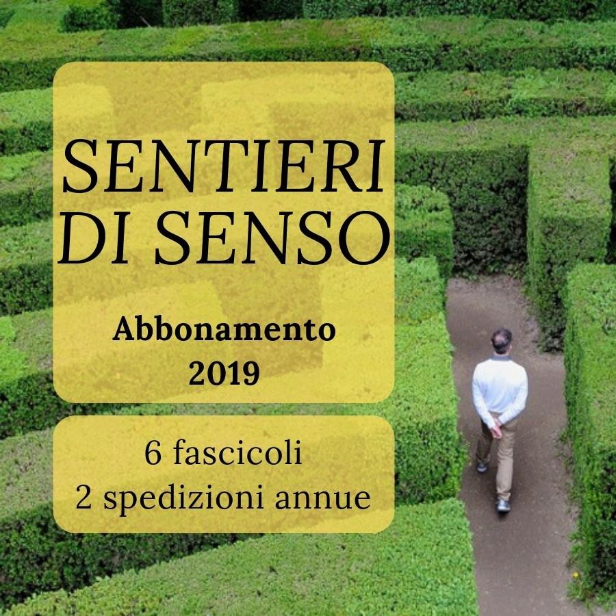 Abbonamento sentieri di senso anno 2019