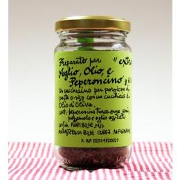 Preparato per aglio, olio e peperoncino