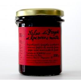 Salsa di fragole, pepe nero e menta